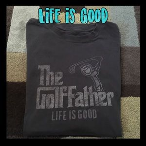 The Golffather life is good t-shirt